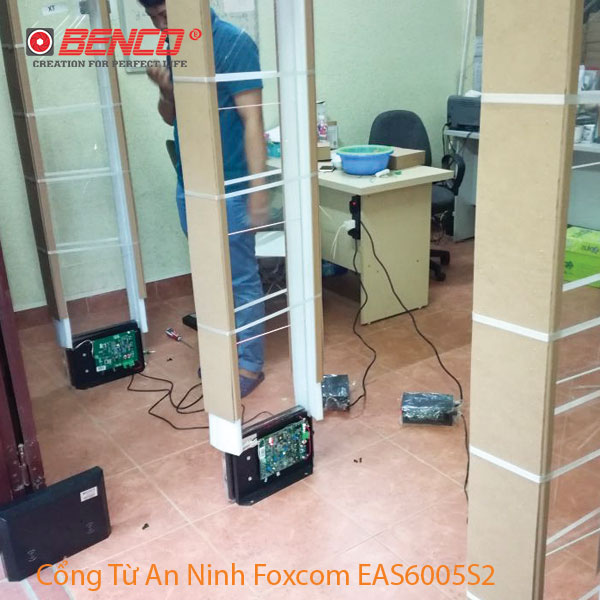 Công trình thực tế cổng từ EAS6005S2