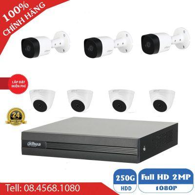 Lắp Đặt Trọn Gói 7 Mắt Camera Dahua 2.0 Giá rẻ BEN-7020DH