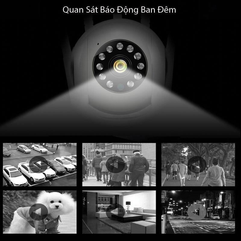 Camera An Ninh 4K Quan Sát Báo Động Ban Đêm