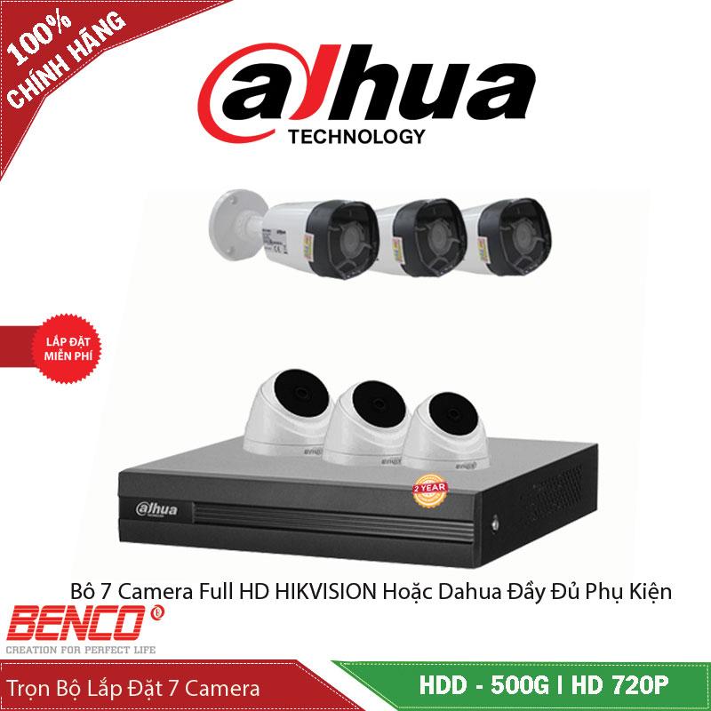 lắp đặt bộ 7 mắt camera giá rẻ