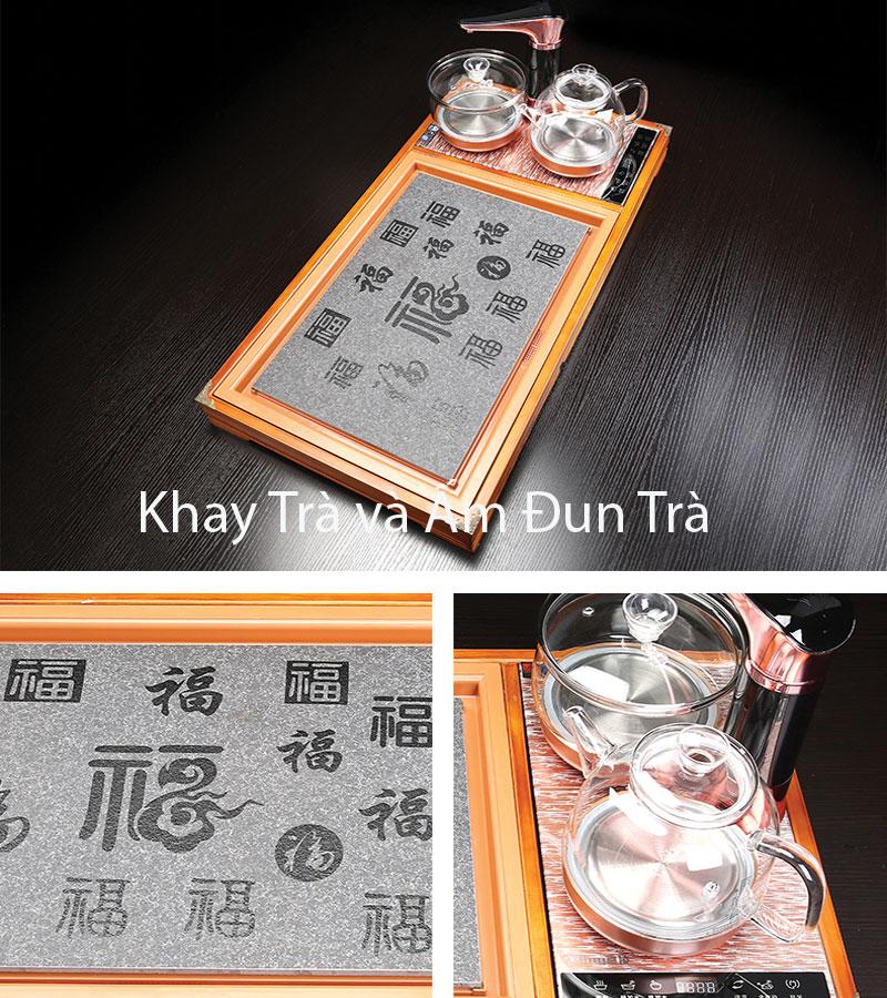 Khay bàn trà và bếp điện đun nước